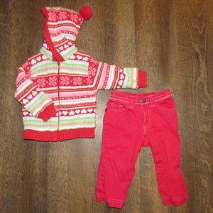 Sweater and pants girl size 12 months